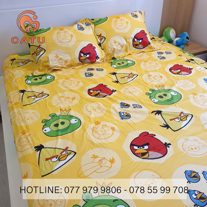 drap-goi-cotton-lua-han-quoc-anry-bird-1